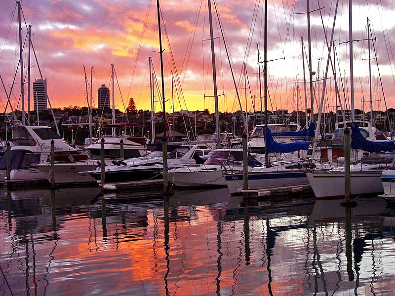 Яхты в гавани Окленда
