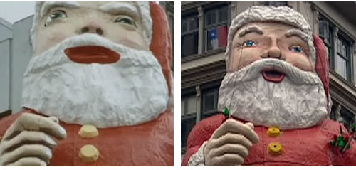 Санта Клаус на Queen Street в Окленде