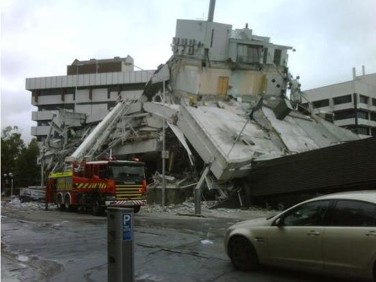 Новое землетрясение в Новой Зеландии - Крайстчерч