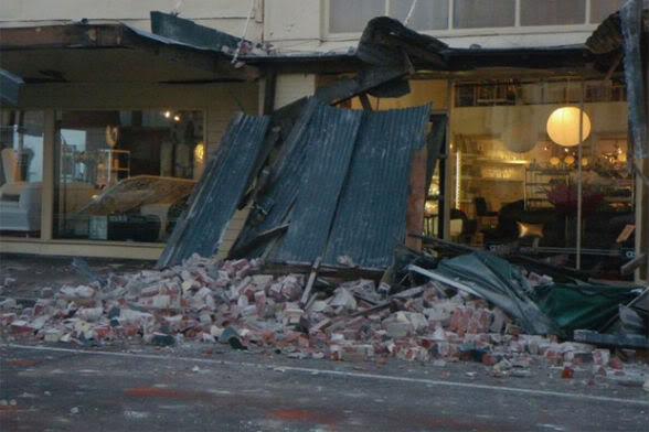 Землетрясение в Крайстчерче