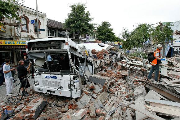 Крайстчерч - последствия землетрясения