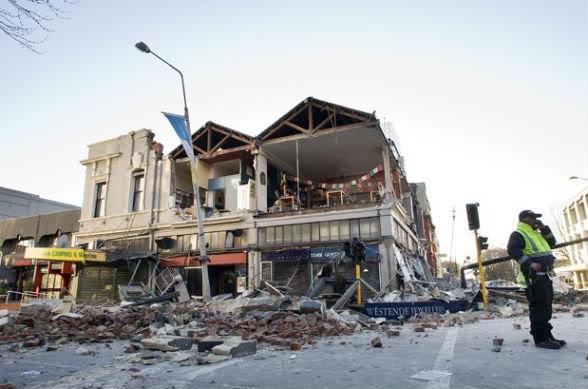 Землетрясение в Крайстчерче - последствия