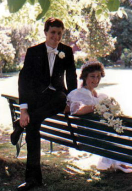 Джон и Брона на свадьбе. 1984 год