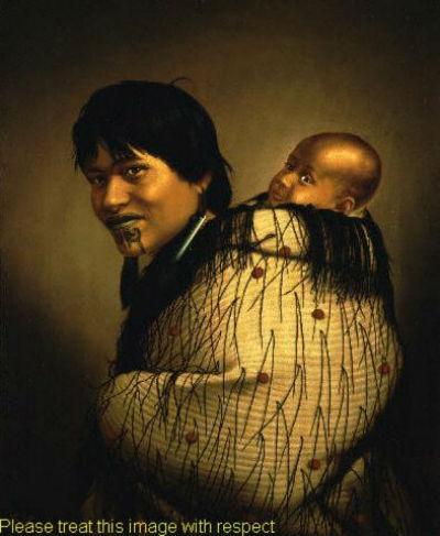 Галерея портретов маори работы Готфрида Линдауэра