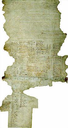 Один из сохранившихся экземпляров Договора Вайтанги