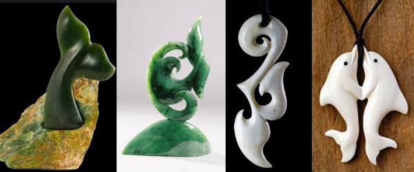 Символы маори и их значение: хвост кита и дельфины