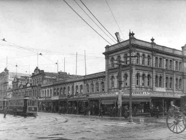 Пересечение улиц Queen и Quay Street, 1912 год