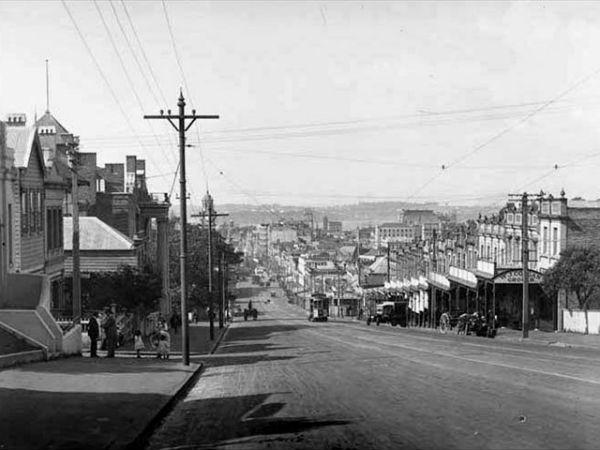 Вид на Queen Street со стороны Scotia Place, 1921 год