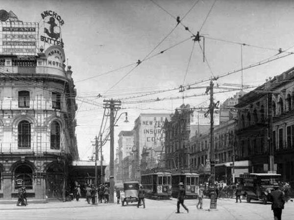 Пересечение Queen и Customs Street, 1924 год