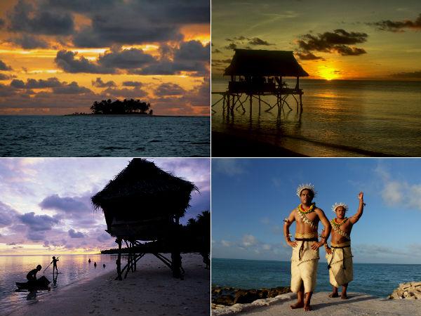 Кирибати - островное государство в Микронезии, расположенное на атоллах в Тихом океане.