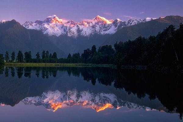Озеро Мэтисон в национальном парке Вестленд Таи Путини