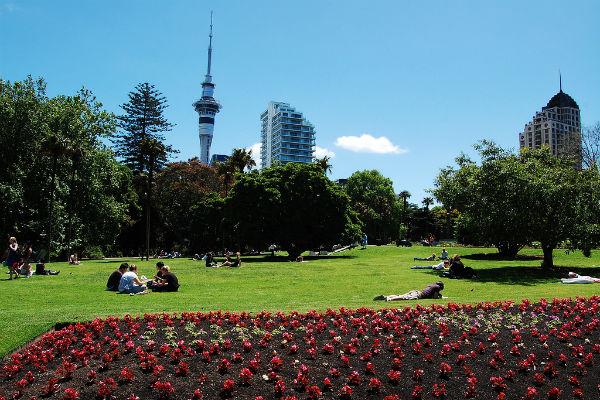 Альберт-парк в Окленде